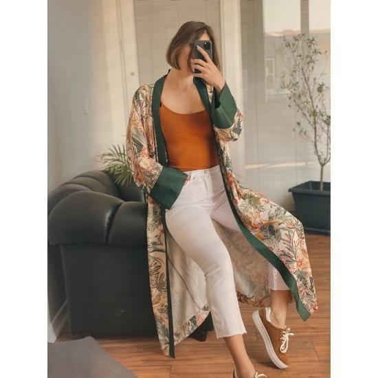 Mercan Maxi Kimono