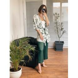 Keten Mini Kimono