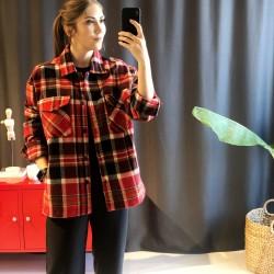 Kırmızı Kareli Oduncu Ceketi