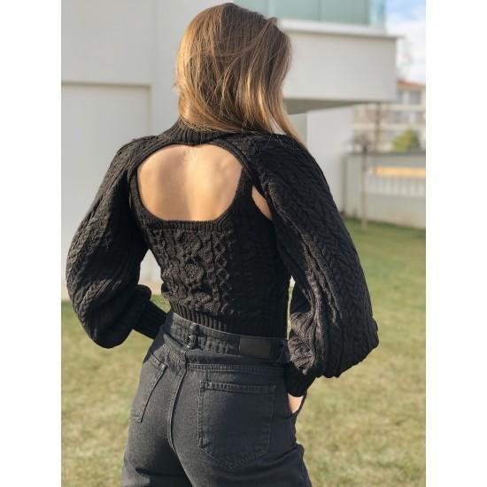 2'li Siyah Triko Takım
