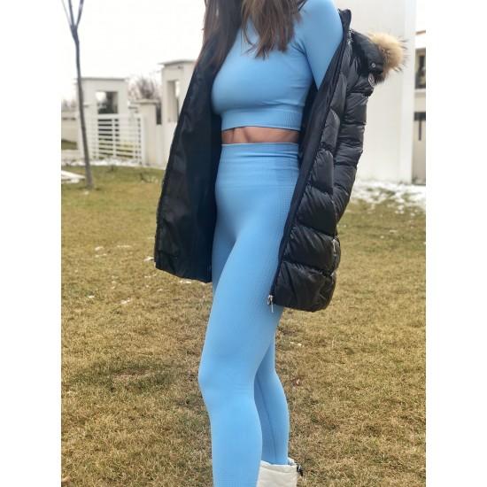Mavi Uzun Tayt Takımı